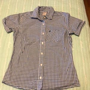 Carhartt short sleeve plaid women's shirt - large